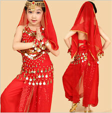 Fashion Girl Professional Indian Dance Dress Set Belly Dance Halloween Costumes