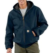 Mens Jacket Carhartt J131 Duck Active Jacket Thermal Lined Blue Assorted Sizes