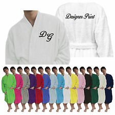 Personalised Unisex Bath Robe Embroidered Bath Robe Dressing Gown