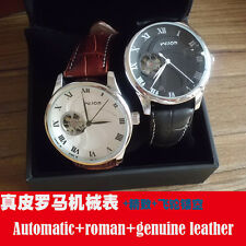 leather watch automatic watches for men man mechanical discount relogio relojes