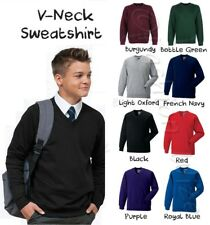 David Luke V Neck School Sweatshirt Cardigan Jumper Ages 3-14 + S M L