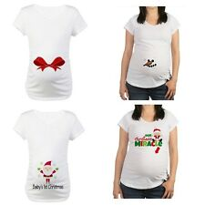 New Cafepress Maternity Tee Shirt 1st Christmas Santa Snowman Miracle Bow M L XL