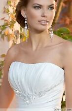 New white Or ivory wedding dress Bridal Gown Gstock size-6-8-10-12-14-16