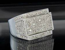 Exclusive 14kt Platinum Finish MicroPave Classy Bling Hip Hop Mens Ring New Band