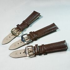 Genuine Leather Band Strap 20mm 18mm Lizard Brown