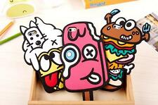Cute 3D Snacks Ice Cream Hamburger Silicone Soft Case Back Cover For iPhone 6 5S