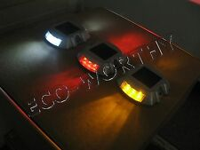 Solar power LED Pathway Marker multicolor Lights Driveway Road garden pool