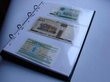 BANKNOTE ALBUM   BLACK  WITH  WHITE DIVIDERS +  FREE GIFT