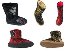 CLASSIC SPARKLES DOUBLE SHADE SEQUINS Midnight Sequin Woman's Boots ~~$25.99~~