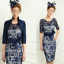 New Formal Evening Dress Free Jacket Mother of the Bride/Groom Dress Size 8-18