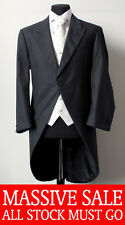 MENS SLATE GREY LIGHTWEIGHT MORNING COAT WILVORST SUIT FORMAL/WEDDING/DRESS