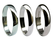 3mm 950 Platinum HM Med Heavy & X Heavy D Profile Shaped Wedding Bands Rings