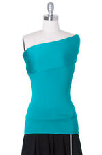 My Darling Girl, One Shoulder, Teal, ModCloth Style, Turquoise, Casual, Juniors