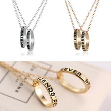 "XMAS Gifts ""Best friends forever"" 2015 New Fashion Long Sweater Rings Necklace"