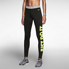 Nike Pro Hyperwarm Compression Tight Fit Leggings Leg-A-See JUST DO IT 640959