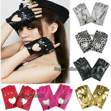 popular Leather Punk Dance Motorcycle Gloves Driving Biker Mittens hot sale new
