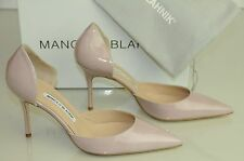 New Manolo Blahnik CHISIOMOD as Tayler Pink Nude Beige Flesh Heels Dorsay Shoes