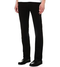 $225 Seven 7 For All Mankind Men's Slimmy Slim Straight Black X-Soft Jeans 30-38