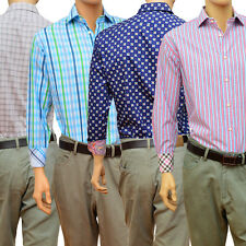 A Colorful Collection Of Mens Thomas Dean Long Sleeve Casual Button Up Shirts