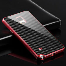 Deluxe Metal Aluminum Frame Carbon Fiber Case Cover For Samsung Galaxy Note 4 S6