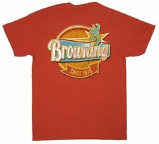 Mens NWT Browning Roadside Diner Buckmark T-Shirt Rusty Bronze Size S M XL 2XL