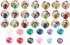 Pack of 10 Air Fill Latex BALLOONS - Large Range - Ages 1-100 Party Decorations