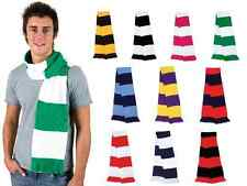 Football scarf, striped classic supporters knitted scarf, team colours, retro