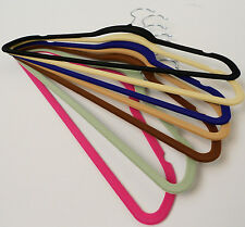 VELVET SPACE SAVING CLOTHES AND PANT HANGERS  ULTRA THIN  NON SLIP  25 PACK NEW