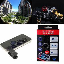 3in1 180° Fish eyeWide Angle Macro Camera Photo Zoom Len clip for Nokia phones