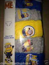 New Despicable Me Minion boys 5 pack of briefs underpants underwear