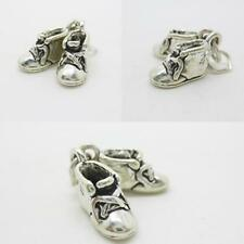 Baby Booties shoes 925 Sterling SIlver charm pendant suit Bracelet Necklace