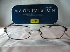 Magnivision Pierre Mens Brown & Bronze Colored Reading Glasses +1.75 2.25 2.75