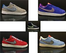 Girls Women Customised Nike Blazer Low Mid Blue Red Grey Diamante Trainers 3-7