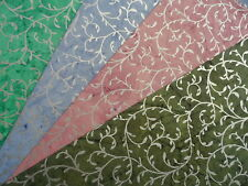 Luxury Handmade Cotton Paper Sheets With Silver Filigree Decoration