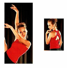NEW! WOMENS / ADULT OR GIRLS / KIDS SLEEVELESS DANCE TOP. 4 COLORS AVAILABLE!
