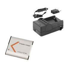 SDNPBN1 Battery & Charger High Capacity Replacement kit for Sony NPBN1 battery