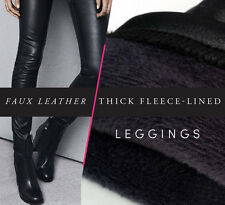 Winter Faux Leather Thick Fleece-lined Leggings - Top Quality *US Seller*