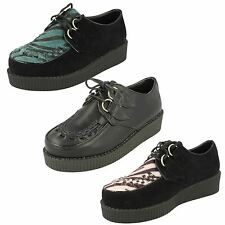 Ladies Spot On Creeper Style Shoes