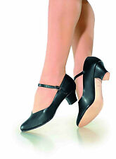 "NEW! SO DANCA 1.5"" CHARACTER SHOES. LEATHER SOLE. BLACK, OR TAN!! (xCH50)"