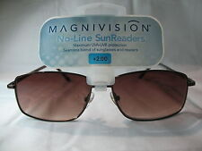 Magnivision No-Line SunReaders Kendall Brown Reading Sunglasses +1.50 2.00 2.50