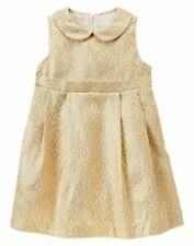 New Gymboree Gold Brocade Dress Holiday Shine Christmas Girls  Many sizes