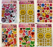 3D CUTE SMILES HEART ANIMAL ART PVC STICKERS HIGH QUALITY FOR KIDS CHILDREN