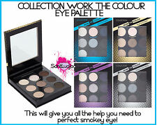 COLLECTION WORK THE COLOUR EYE PALETTE SMOKEY EYE TUTORIAL NUDE BLUE PURPLE BROW