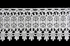 Lily 4-3/4 inches Wide White Beautiful Fine Venice Lace Ribbon Trim By Yardage