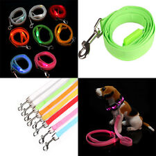 Cute LED Glow Flashing Dog Belt Harness Leash Tether Pet Light-up Safety Collar