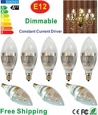 E12 LED Candle Bulb 6w/9w Dimmable LED Candelabra for Crystal Lamp(Tip tail)