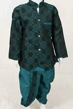 BYK2025 Forest Green  and Teal Boys Kurta Pyjama