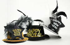 NEW Holiday Costume Accessory Mini Glittered Top Hat w/Hair Clips New Year's Eve