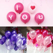 100pcs Multicolor Latex Ballons For Wedding Anniversary Birthday Or Other Party