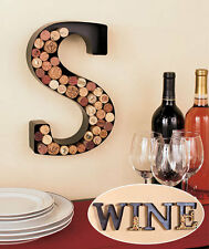 UNIQUE METAL MONOGRAM LETTER-SHAPED INITIAL WINE CORK HOLDER WALL ART-11 LETTERS